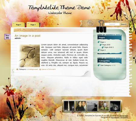 Watercolor Wp Theme
