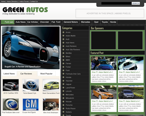 GreenAutos WP Theme