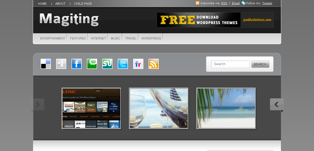 Magiting WordPress theme