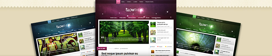 Glow WordPress Theme