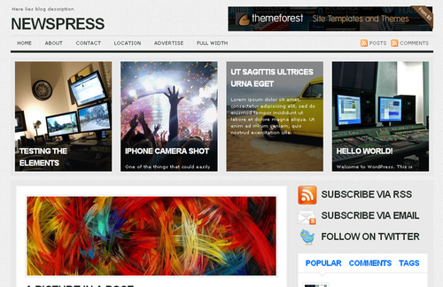 NEWSPRESS WordPress Theme