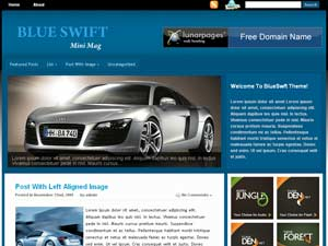 BlueSwift WordPress Theme