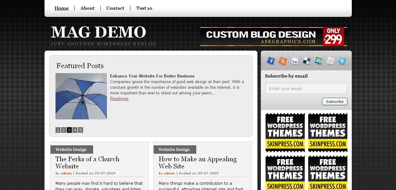 GreyMag WordPress Theme