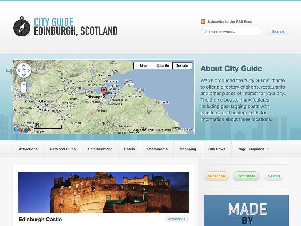 CityGuide Premium WordPress Theme