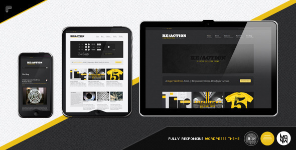reaction wordpress theme