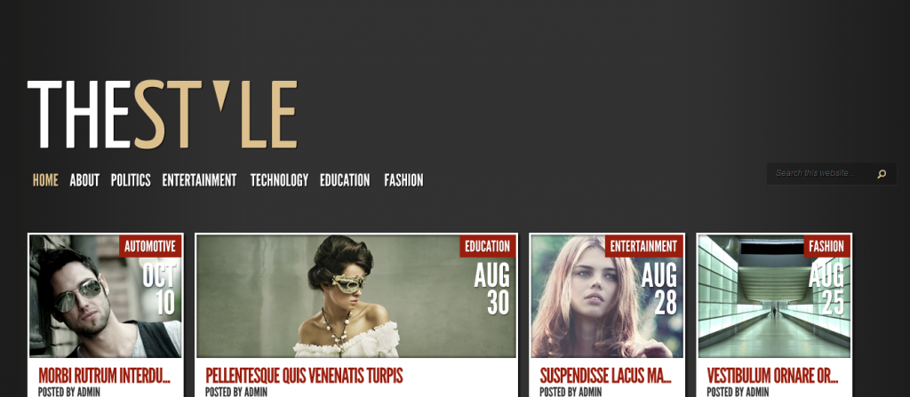 thestyle from elegant themes for wordpress